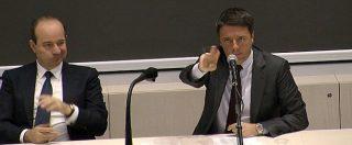 """Referendum, Renzi agli studenti: """"Meglio le senatrici Raggi e Appendino o uno eletto con 100 click sul blog?"""""""