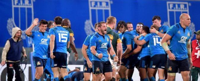 """Rugby, l'Italia batte 20-18 il Sudafrica: """"E' la prima vittoria contro gli Springboks"""""""