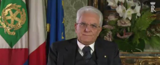 """Mattarella, discorso di fine anno: """"Voto anticipato contrario a interessi del Paese"""". Priorità """"lotta a disoccupazione"""""""