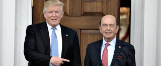 """Usa, Trump nomina squadra economica: Ross al Commercio, Mnuchin al Tesoro. """"Dimezzeremo subito tasse alle imprese"""""""