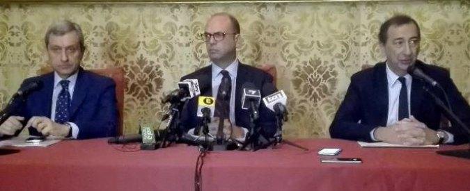 """Milano, vertice sulla sicurezza Alfano-Sala. Il ministro: """"Manderemo altri 150 militari e stop all'arrivo di migranti"""""""