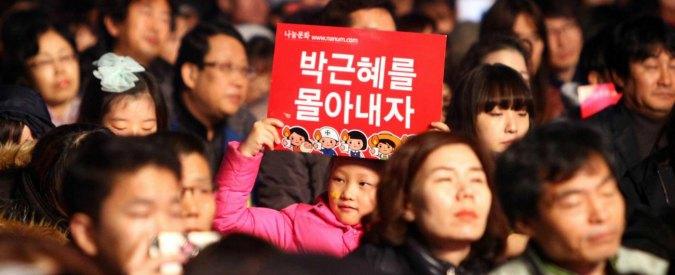 """Corea del Sud, la presidentessa Park verso le dimissioni: al centro il rapporto con la """"sciamana"""" Choi"""