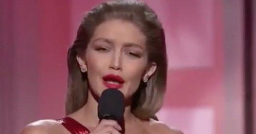 """Gigi Hadid e l'imitazione di Melania Trump: """"Sono orgogliosa di mio marito, il presidente Obama"""""""