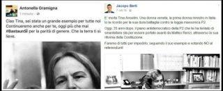"""Referendum, Anselmi usata già nella propaganda: """"Votare No contro la P2"""", """"Battaglia per le donne continua col Sì"""""""