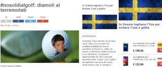 """Ryder Cup e i 60 milioni stanziati dal governo, blog Grillo: """"No soldi al golf, diamoli ai terremotati"""""""