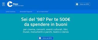 """Bonus 500 euro ai 18enni, hacker 'etico' scopre le falle del sito: """"Possibile creare infiniti coupon"""""""