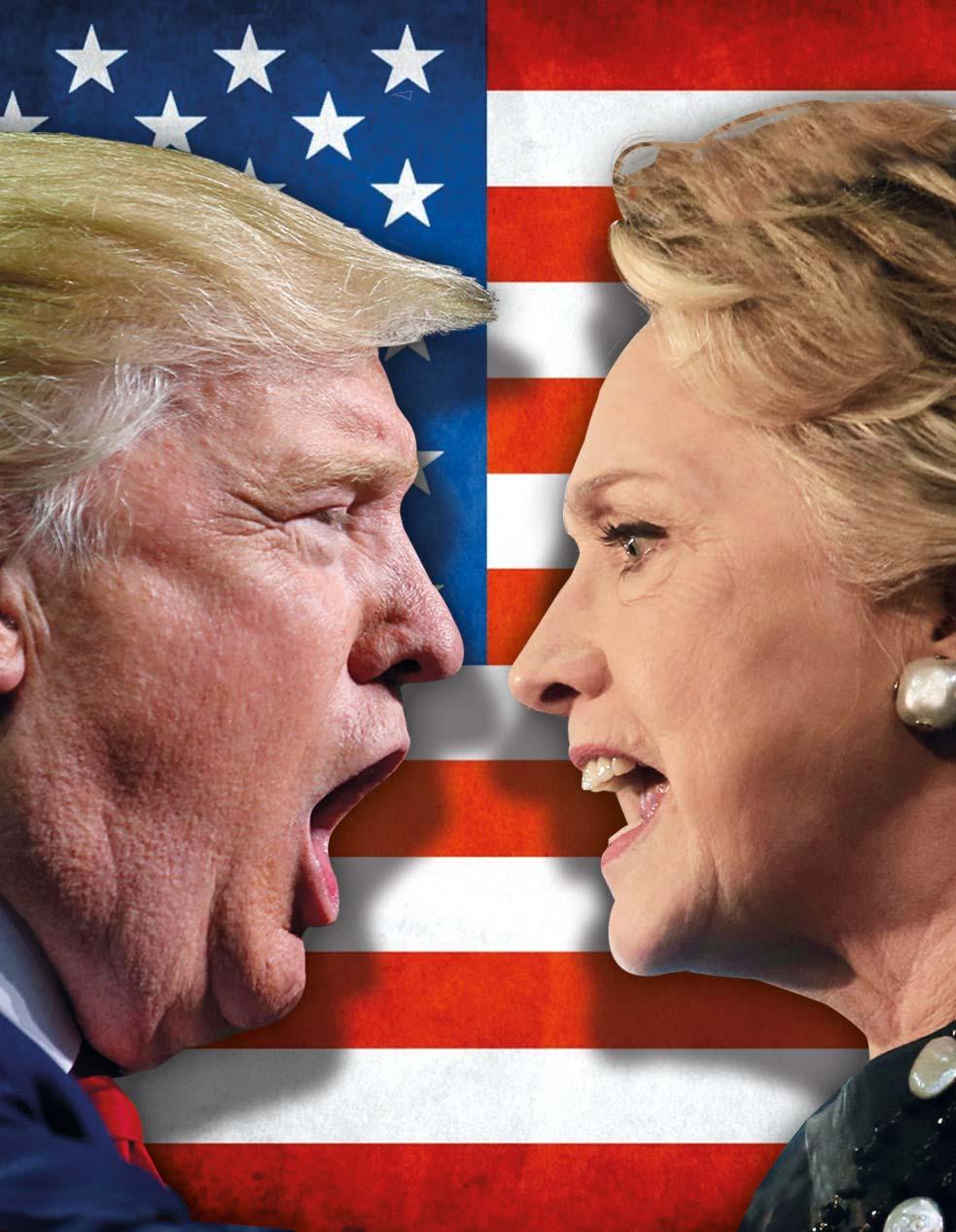 Voto sul filo: Trump contro Clinton, sfida da brividi