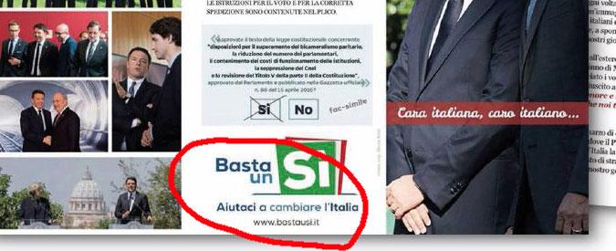 Renzi e il refuso nella lettera agli italiani all'estero: link porta a comitato del No