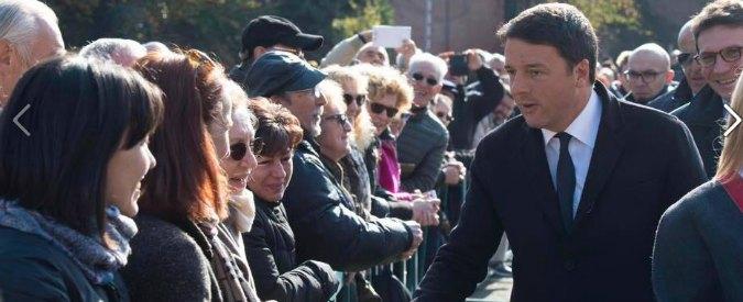 """Renzi, epic fail su Facebook: """"Tutte le foto, tranne quella col disabile"""". Staff: """"Scelta per evitare strumentalizzazioni"""""""
