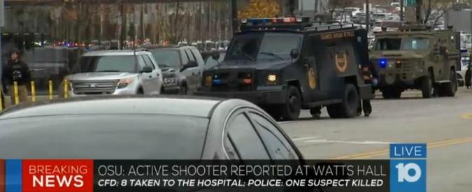 """Ohio, sparatoria nel campus universitario di Columbus. Polizia: """"10 feriti, ucciso un attentatore"""""""