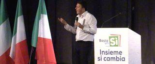 """Riforme, Renzi: """"Col referendum abbiamo messo insieme Berlusconi e Magistratura democratica"""""""