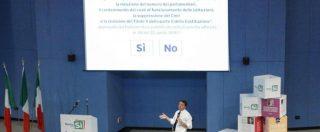 """Referendum, alla fine lo ammette anche Renzi: """"Con la semplice lettura del quesito travaso di tre punti dal No al Sì"""""""