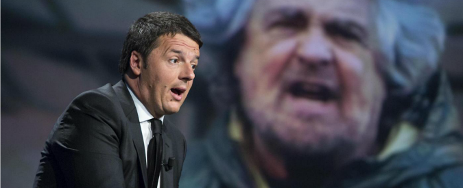 """Referendum, Renzi: """"Confronto con Grillo? Lui scappa"""". La replica: """"Io tra la gente. C'è Di Maio pronto a sopportarti"""""""