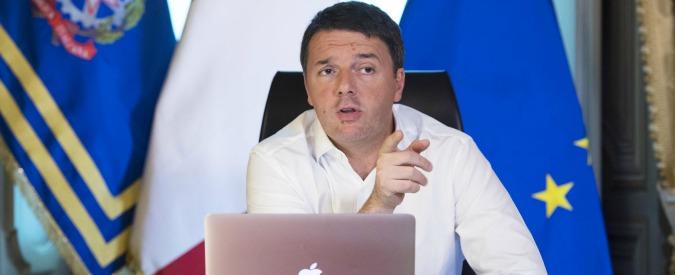 """Renzi: """"Con i soldi che prende dal Senato M5s paga gli affitti dei dipendenti dell'ufficio comunicazione"""""""