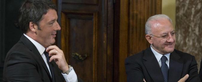 """Renzi minimizza le incitazioni al clientelismo di De Luca: """"Non dica parolacce alla Bindi e poi va tutto bene"""""""