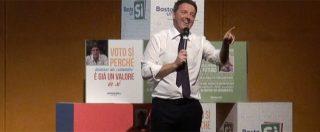 """Riforme, Renzi: """"L'alternativa è fra il sì e il mai"""". Poi lancia il """"kit anti-bufale"""""""