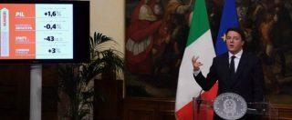 """Renzi, 1000 giorni di governo: """"Riforme e ripartenza: compiti fatti. Se vince il No verificheremo la situazione politica"""" - 14/15"""