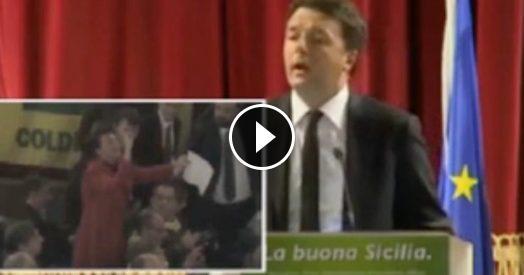 """Palermo, la vigilessa contesta Renzi. Lui fatica a placare gli animi: """"Non credo stia facendo molto per la sua causa"""""""