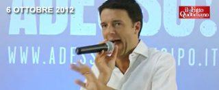 """Quando Renzi diceva: """"Non vi pagherò mai una pizza in cambio del vostro voto"""""""
