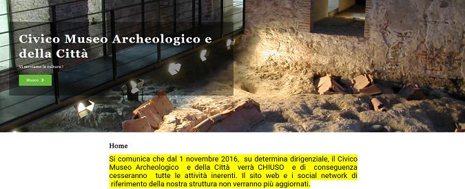 Savona, il Museo archeologico vittima del dissesto del Comune