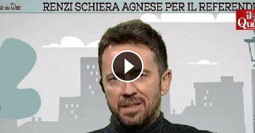 """Referendum, Scanzi: """"Renzi schiera la moglie Agnese? Sicuramente più forte e affascinante della Boschi"""""""