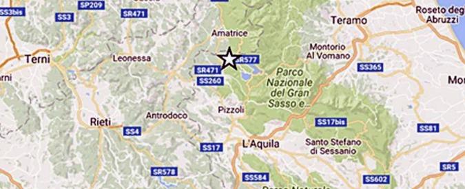 Terremoto Centro Italia, scossa con magnitudo 4.4. Epicentro nell'Aquilano