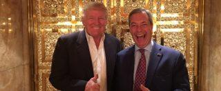 """Donald Trump presidente, quarta notte di proteste negli Usa. Il tycoon incontra Farage. Moore entra nella Trump Tower: """"Voglio parlarti"""""""