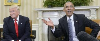 """Usa-Russia, Obama: """"Manterremo impegni con Nato e Ue"""". Ma Trump a Putin: """"Migliorare le nostre relazioni"""""""
