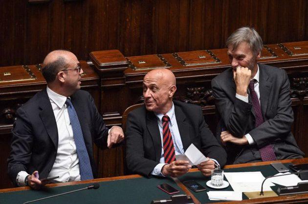I ministri Alfano, Minniti e Delrio