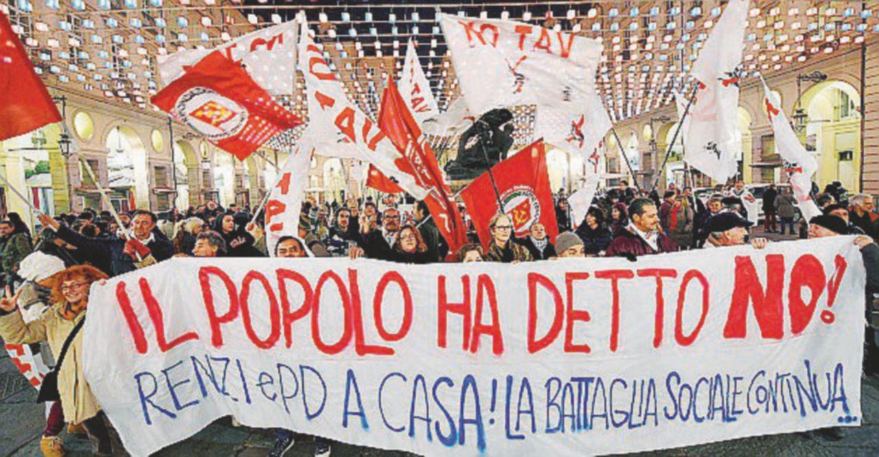 La protesta No Tav a Palazzo Chigi