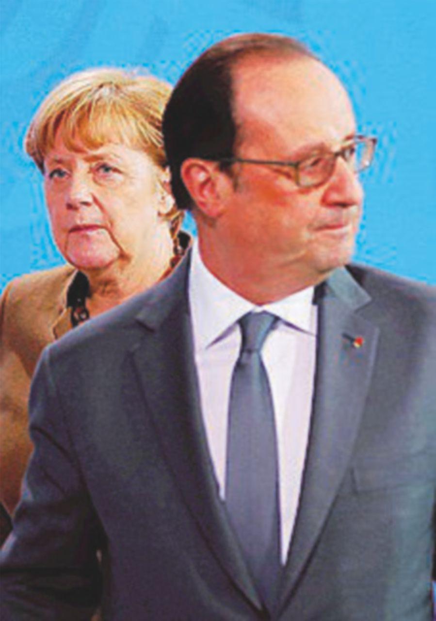 """Hollande a Merkel: """"Non mettiamo a rischio i nostri valori"""""""