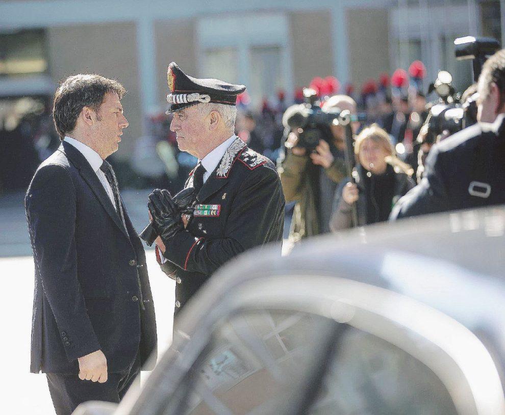 Matteo Renzi e il generale Tullio  Del Sette.