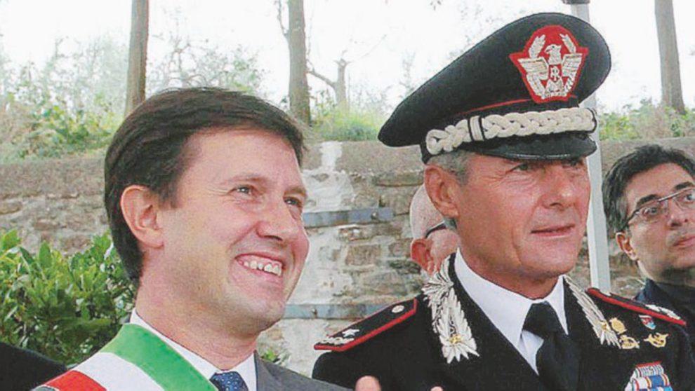 Emanuele Saltalamacchia col  sindaco di  Firenze Dario  Nardella