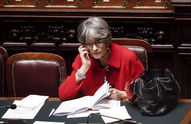 Il ministro per i Rapporti con il Parlamento Anna Finocchiaro