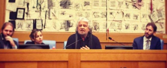 """M5s, Casaleggio jr e Grillo a Roma per programma e Parlamento in piazza: """"Non ci spaventiamo per accanimento media"""""""