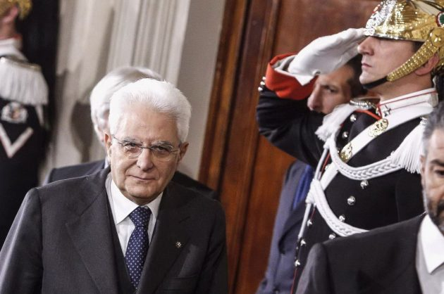 Il presidente della Repubblica Sergio Mattarella dopo le consultazioni