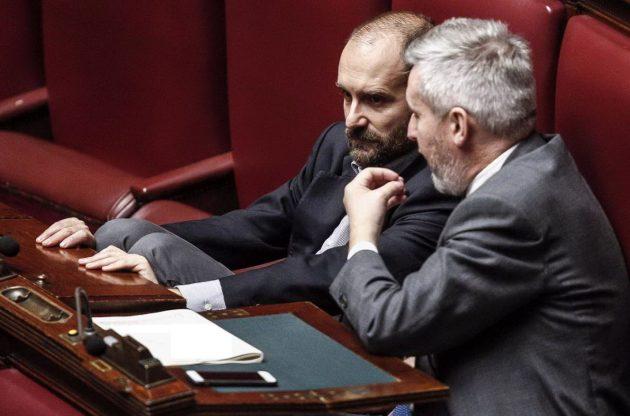 Il vicesegretario del Pd Guerini e il presidente del partito Matteo Orfini