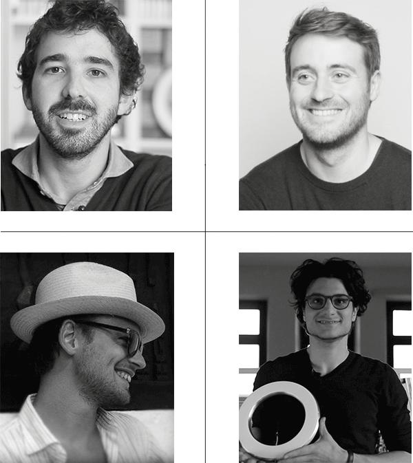 Il team Halos: Stefano, Axel, Giulio e Marco