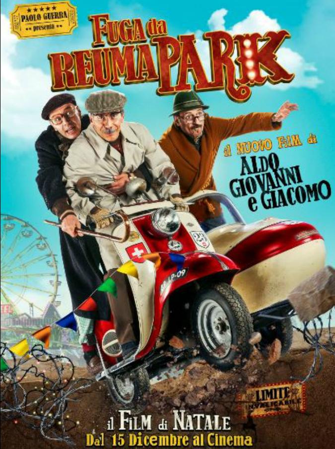 Fuga da Reuma park, parola d'ordine del nuovo film di Aldo, Giovanni e Giacomo? Fuggire (dal cinema)