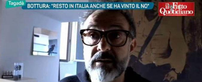 """Renzi, chef Bottura smentisce: """"Mai detto che avrei lasciato l'Italia se avesse vinto il No al referendum"""""""