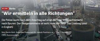 Attentato Berlino, né aggettivi né titoli urlati: sui siti tedeschi solo fatti