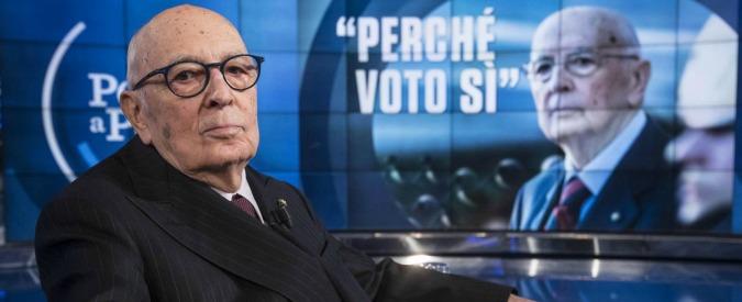 """Napolitano: """"C'è bisogno di alta professionalità, non si possono scegliere persone e linea politica con un clic"""""""