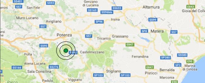 Terremoto, scossa di magnitudo 3.8 in provincia di Potenza: nessun danno. Proseguono le scosse di assestamento