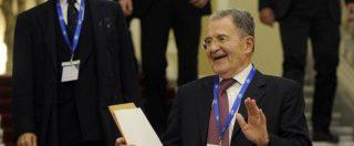 """Ue, Prodi: """"L'Europa non conta più nulla. L'idea di un'Italia sola è una cosa terribile"""""""
