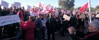 Terrorismo, centinaia di persone in corteo a Tunisi contro il rientro dei jihadisti