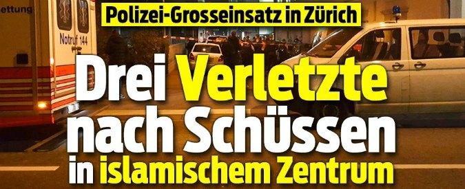 Zurigo, sparatoria in un centro islamico: tre feriti