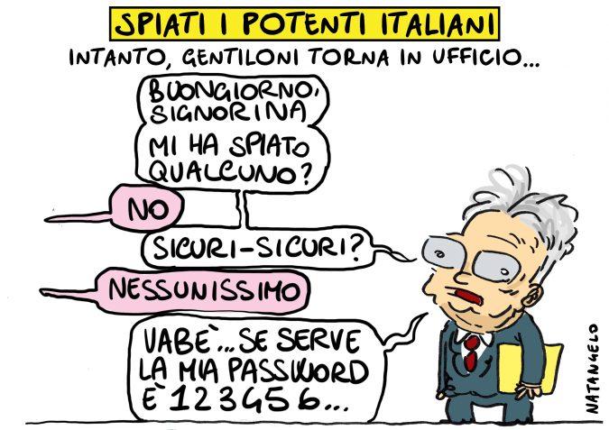 Spiati i potenti italiani