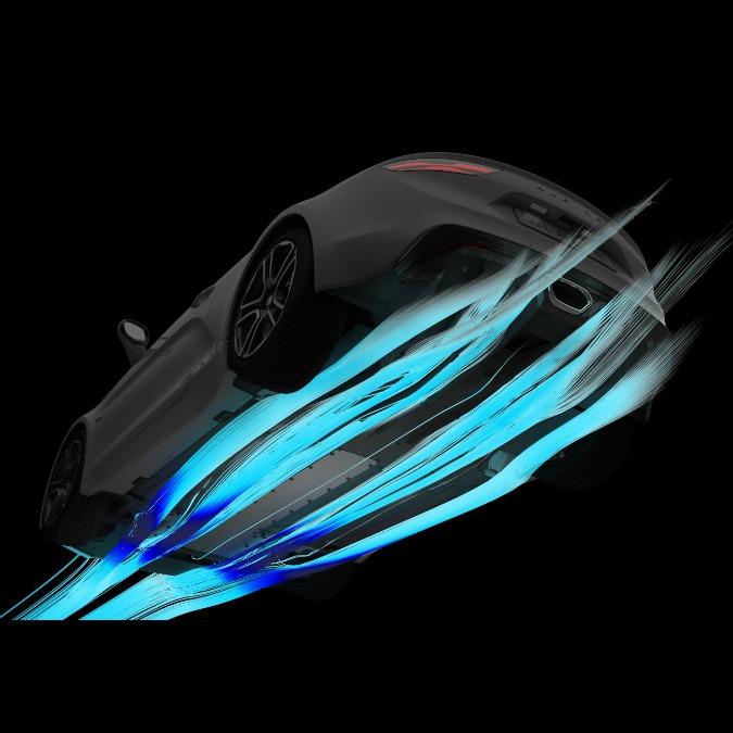 Alpine, ecco la danza dei flussi aerodinamici della nuova coupé