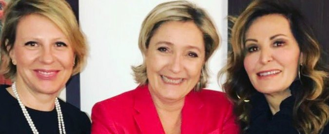 "Parigi, Santanché incontra Le Pen: ""In Italia serve polo con Salvini e Berlusconi"". Poi vede i finanziatori del Front National"