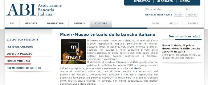 Banche, il museo virtuale con le opere degli istituti annunciato dall'Abi nel 2015 resta virtuale: non è mai nato